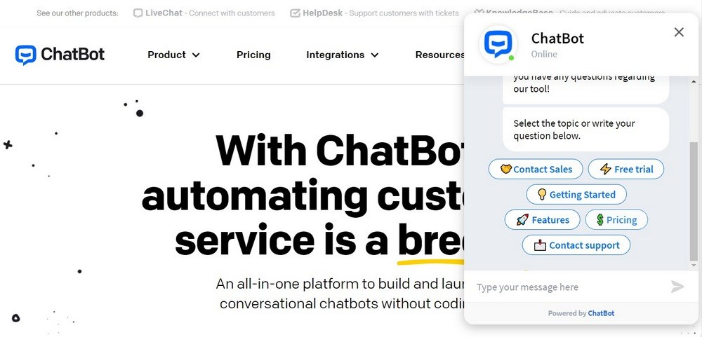 ChatBot Chatbot Software for Your Website