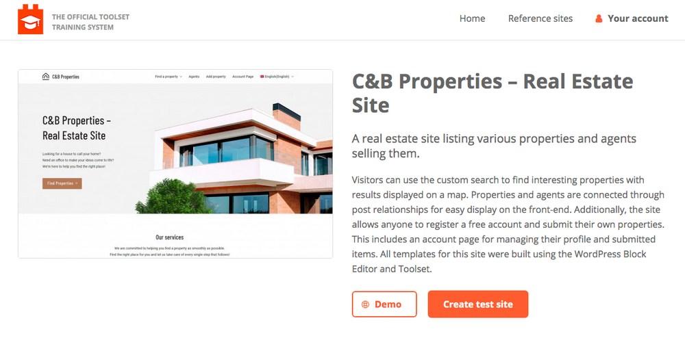Create free demo site
