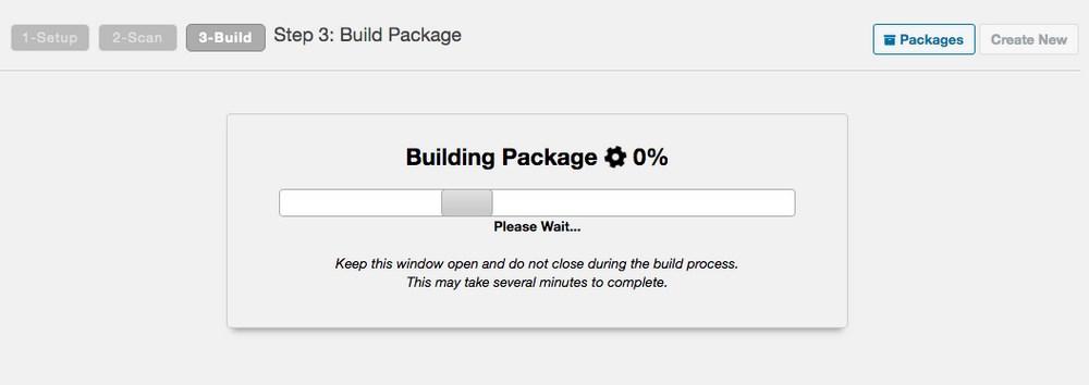 Duplicator building package