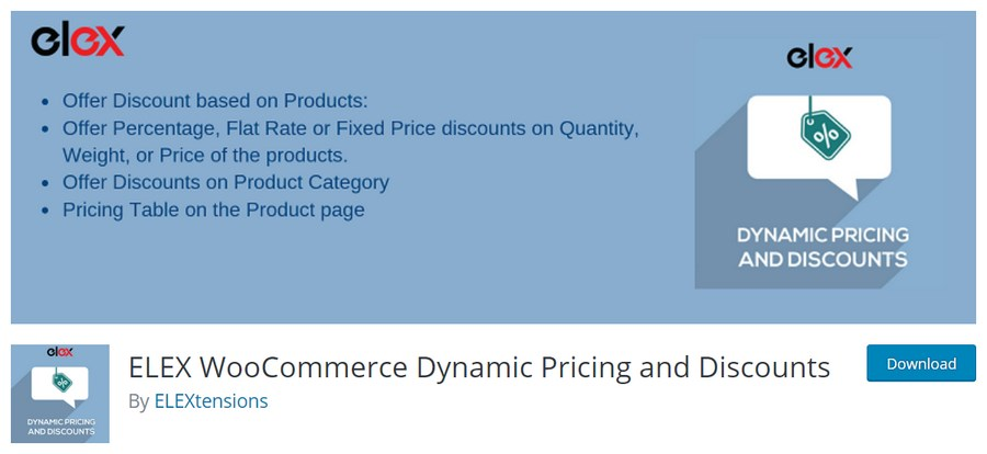 ELEX WooCommerce Dynamic Pricing and Discounts WordPress plugin