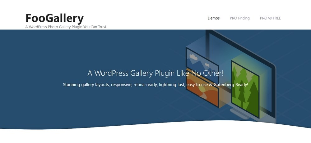 FooGallery WordPress plugin homepage