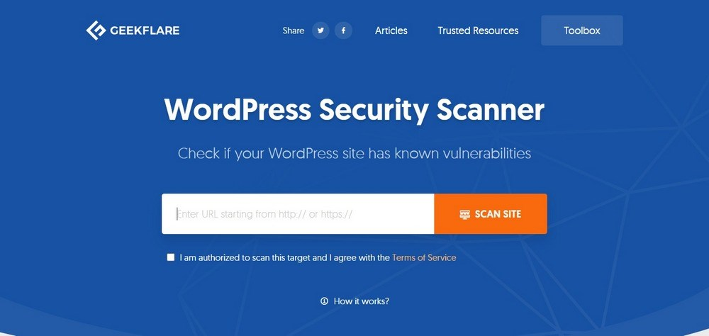 Geekflare WP Security Scanner