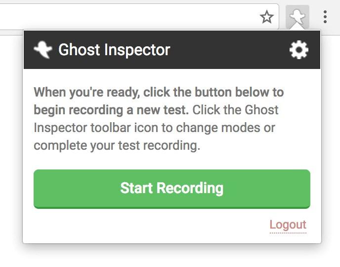幽靈檢查器開始錄製