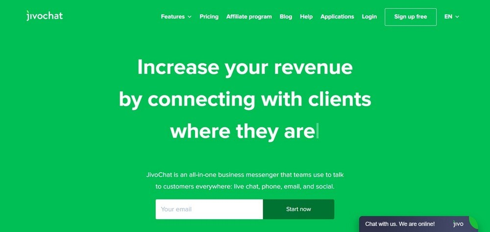JivoChat homepage