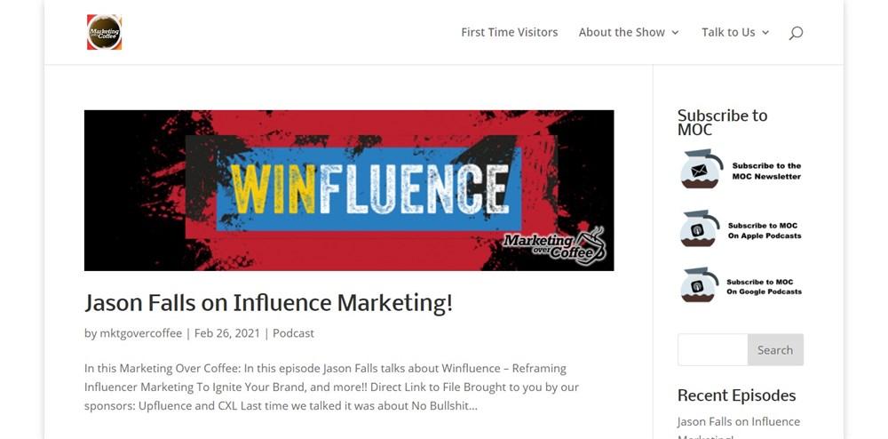 Marketing Over Coffee Marketing Podcast