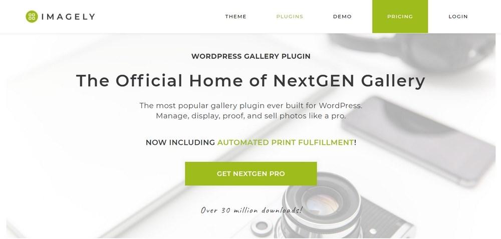 NextGEN Gallery WordPress plugin homepage