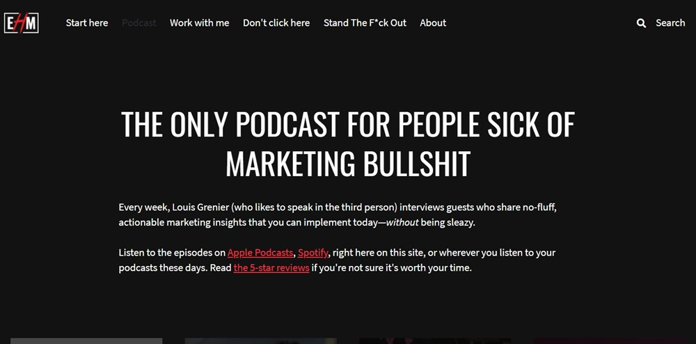 No-fluff, Actionable Marketing Podcast by Louis Grenier
