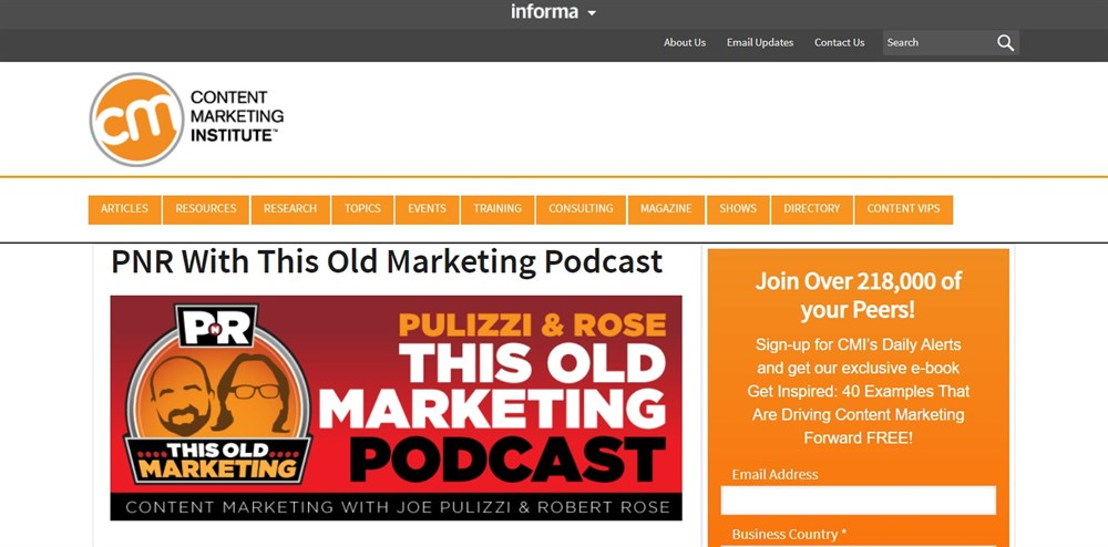 PNR With This Old Marketing Podcast
