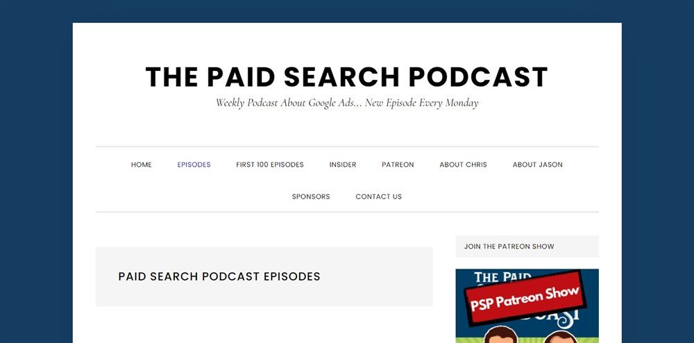 Paid Search Podcast Episodes