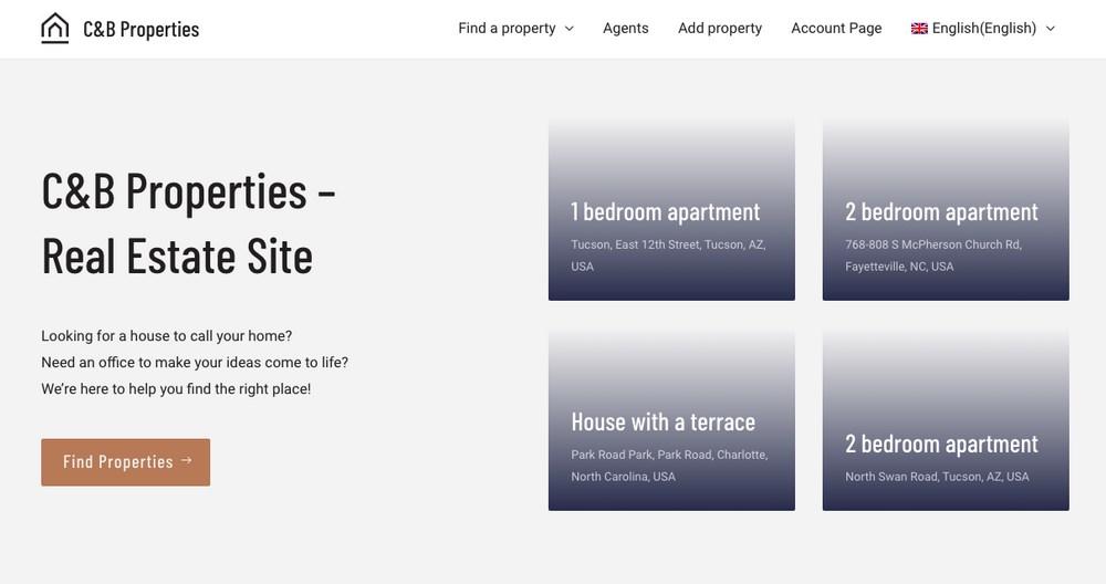 Real estate website demo