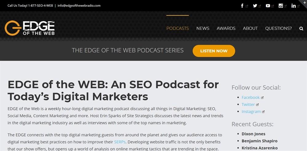 SEO Podcast EDGE of the Web