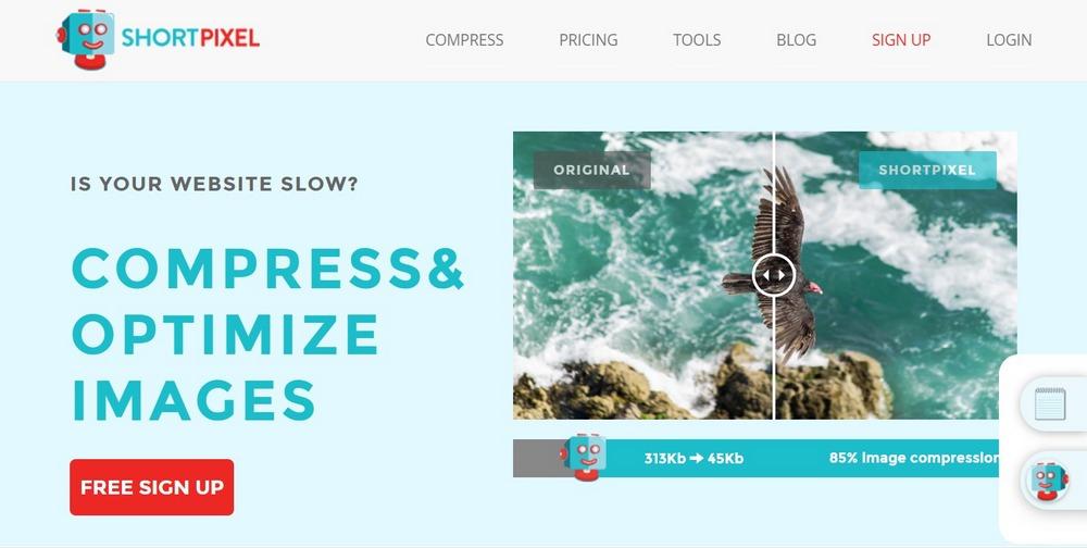 ShortPixel homepage