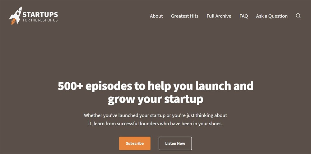 Startups For the Rest of Us Podcast