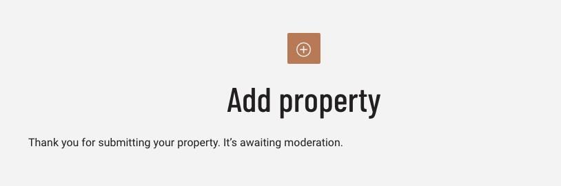 Summited property moderation