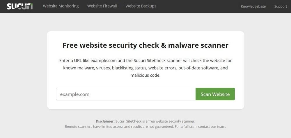 Sucuri SiteCheck Malware Scanner