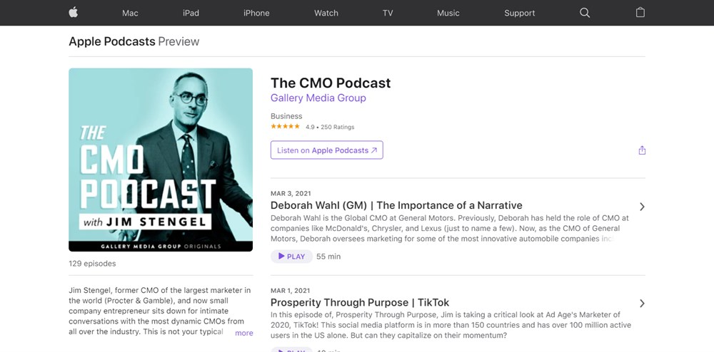 The CMO podcasts