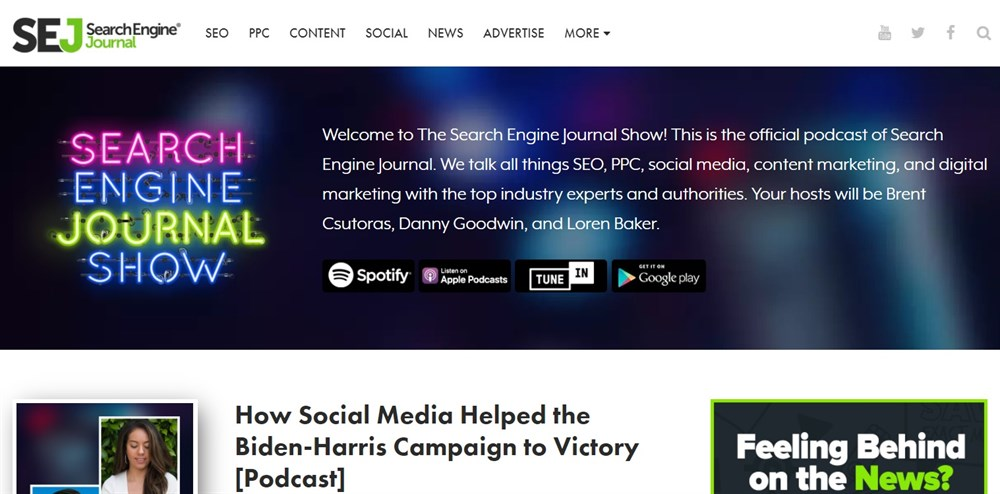 The Search Engine Journal Show - Podcast for SEO & Marketing