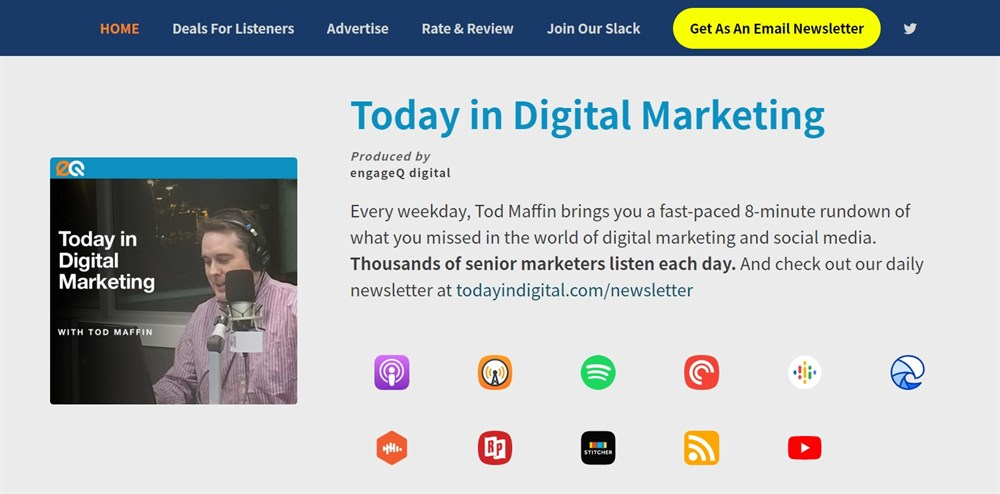 Today in Digital Marketing podcast