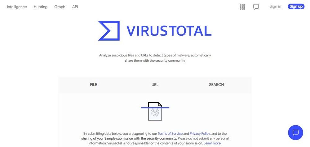 VirusTotal scanner