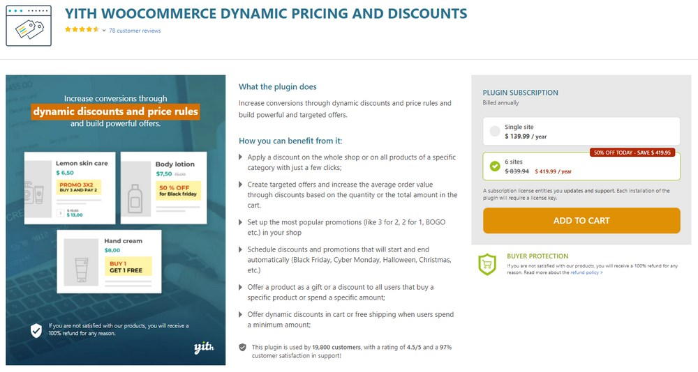 YITH Dynamic Pricing and Discounts for WooCommerce