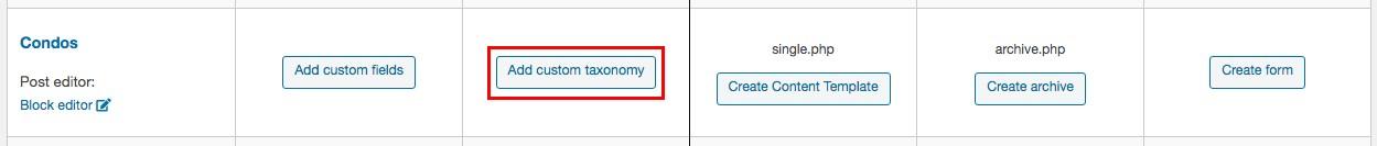add custom taxonomies