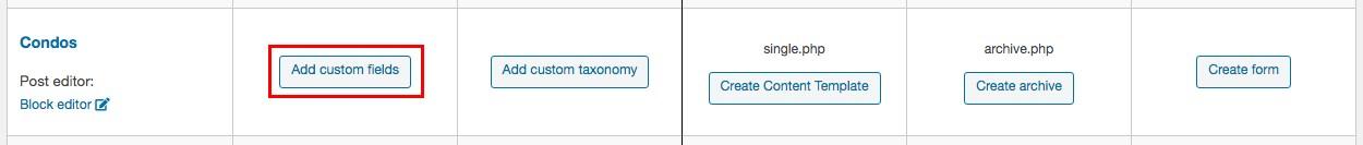 create custom fields