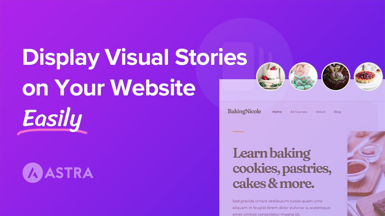 Display Visual Stories on Website