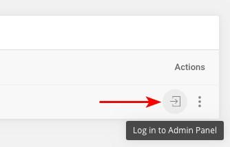 login staging site admin panel
