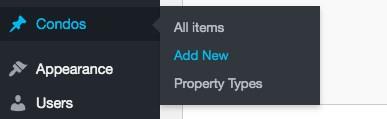 post type menu