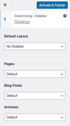 Astra Sidebar display option