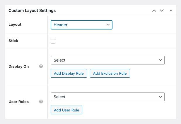 Custom layout settings 2