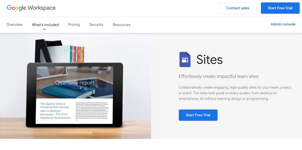 Google sites to create landing pages