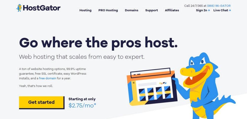 HostGator hosting services