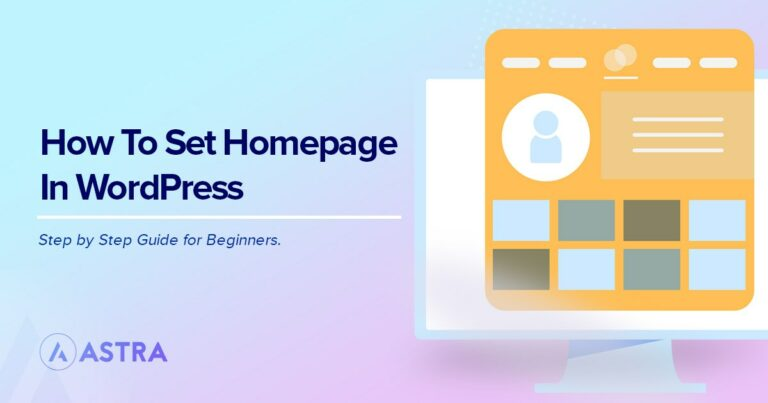 How to set homepage in WordPress