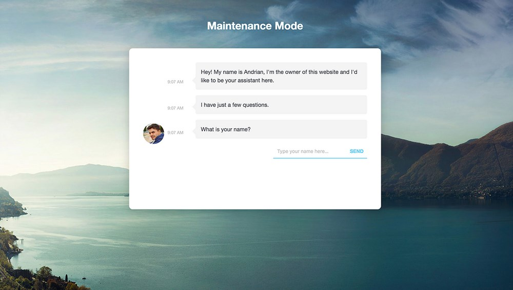 Maintenance mode customize message
