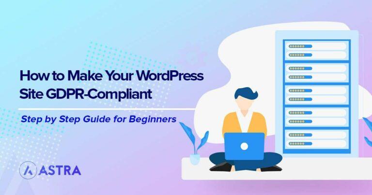 Make WordPress site GDPR compliant