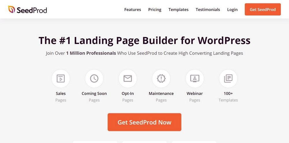 SeedProd Drag & Drop WordPress Landing Page Builder