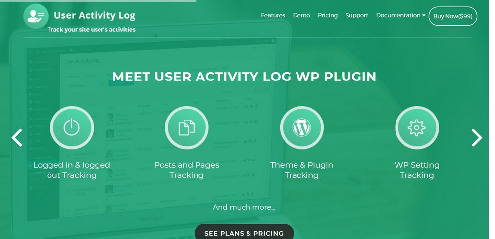 User Activity Log WordPress plugin