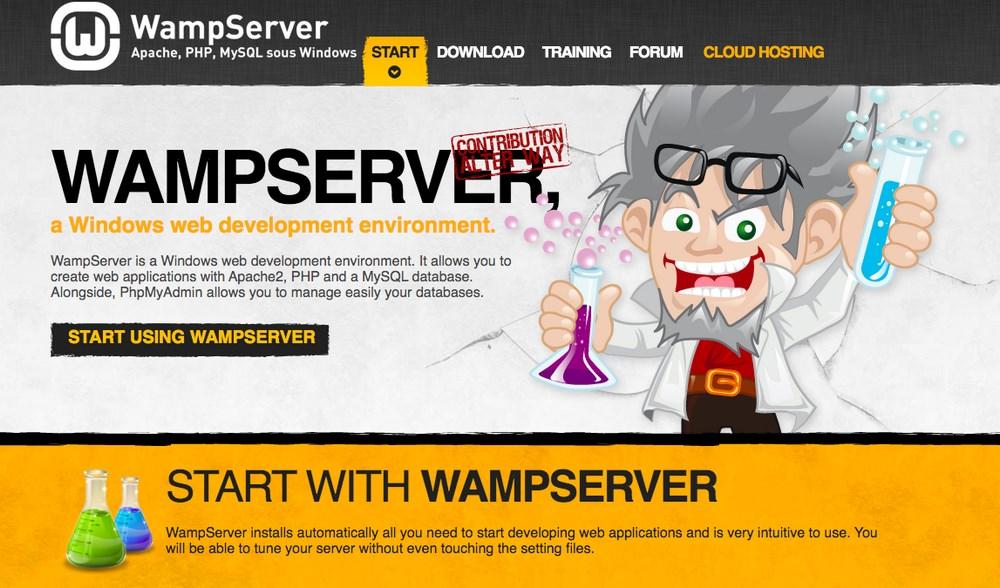 Wamp Server homepage