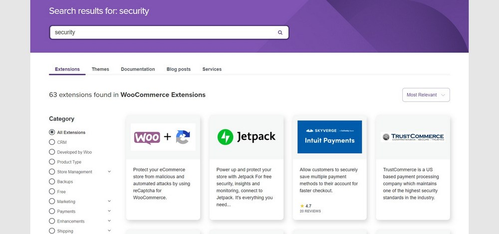 WooCommerce Security extensions