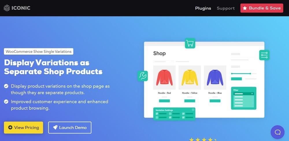 WooCommerce Show Single Variations plugin