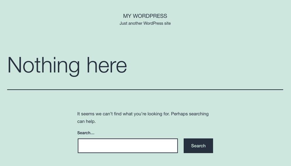 WordPress default theme SiteGround