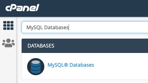 access mysql databases using cPanel