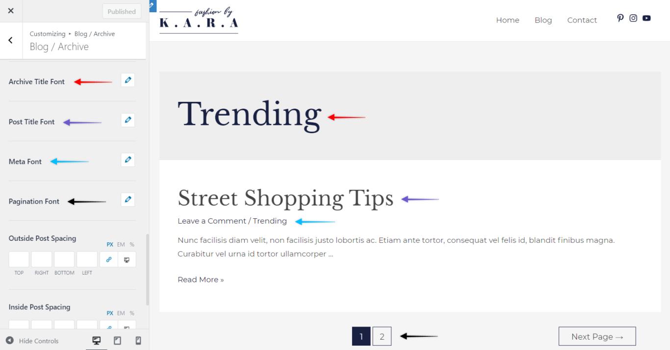 Astra Pro - Blog Typography, Astra 3.0+