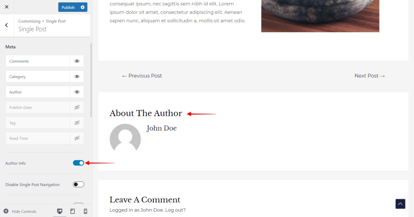 Astra Pro - Post Author Info, Astra 3.0+
