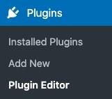 go to plugin editor