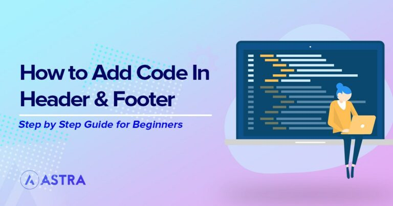 how to add code in header and footer