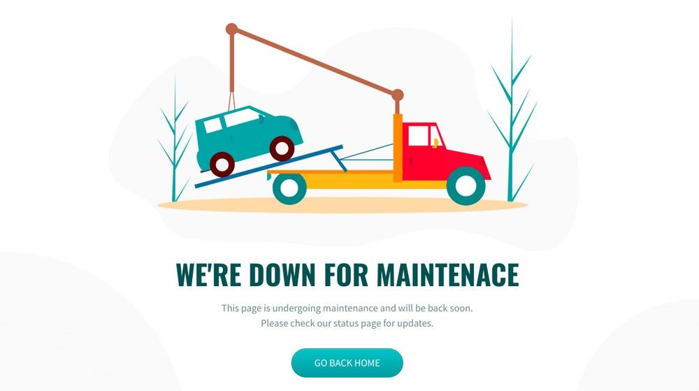 maintenance mode image