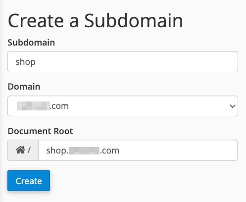 subdomain setup