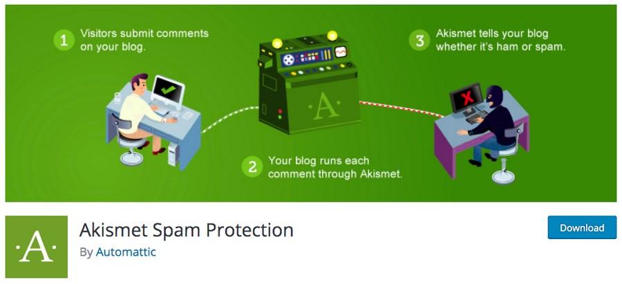 Akismet Spam Protection plugin